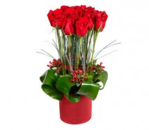 Red Rose Topiary Valentines Day