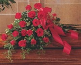 Red Rose Tribute Casket Spray TF208-2