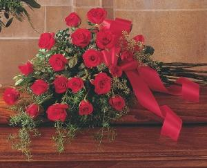 Red Rose Tribute Casket Spray TF208-2 in Hesperia, CA | ACACIA'S COUNTRY FLORIST