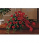 Red Rose Tribute Spray Casket Spray