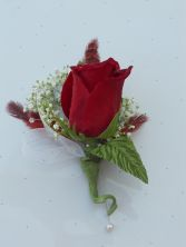 Red Rose with Red Feathers