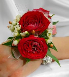 Red Rose Wristlet Corsage