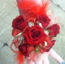 Red Rose Wristlet Prom