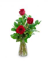 Red Roses (3) Flower Arrangement