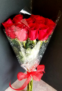 Red Roses Wrapped