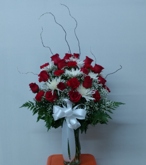 Red Roses And Carnation Masterpiece  in Astoria, NY | LIC Florist