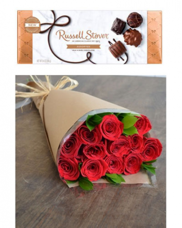 Red Roses and Chocolates (see note) Roses, Wrapped