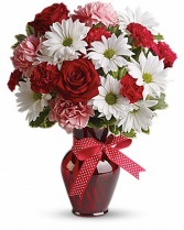 RED ROSES AND DAISEYS