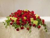 Red Roses with Green Hydrangea vc-101a