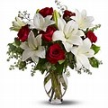 red roses and white liliy 6red roses and 2 white lilies in Denver, CO | Secret Garden