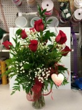 Red Roses Arrangment Valentine's Day