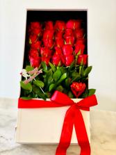 RED ROSES BOX