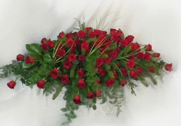 Red Roses Casket Blanket Casket Blanket/Casket Spray
