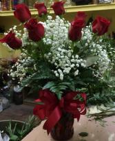 RED ROSES CLASSIC DOZEN  Red Roses Arrangement