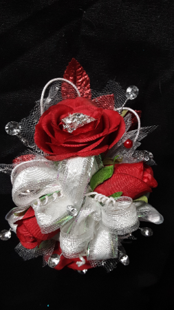 Red roses for a special lady wrist corsage