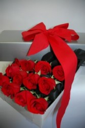 Red Roses Hollywood Style Arrangement