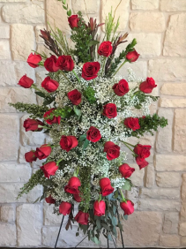 RED ROSES STANDING SPRAY