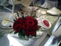 Red Roses Table Arrangement