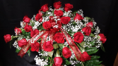 red roses to show your Love casket spray
