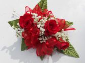Red Roses with Red Ribbon