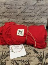 Red Ruffled Kozi & Co Blanket