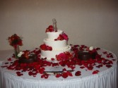 Red Shade Cake Arrangement