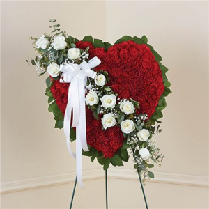 Red Solid Standing Heart With White Roses  in Brooklyn, NY   FLORAL FANTASY