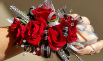 Red Sparkle Corsage