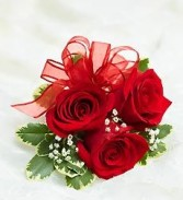 RED SPLENDER PROM CORSAGE