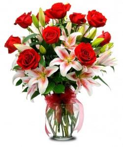 Red Star  Valentine's Day Flowers