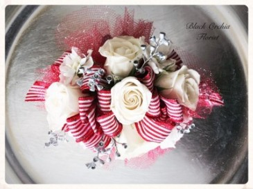 Red Stripes Corsage