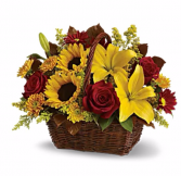 Red Sunrise Basket Arrangement