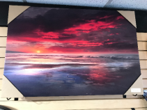 "Red Sunset 24"" X 36"" Canvas"
