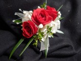Red Sweetheart Roses Contemporary Corsage