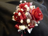 Red Sweetheart Roses Corsage