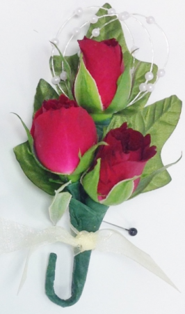 Red Tea Rose Boutonniere