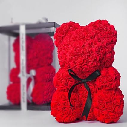 Red teddy bear  Bear in a box