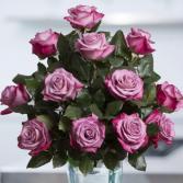 Red tipped lavender roses One dozen, two dozen, three dozen pink roses