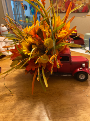 Red Truck -Fall  Fall silk  in Crossville, TN | PEAVINE FLORAL