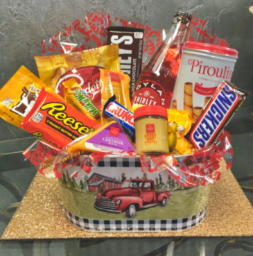 Red Truck Snack  Bucket
