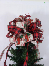 Red Truck Tree Topper Bow Christmas Tree Toppers