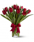 Red Tulip Vase Colors may vary due to supply Tulip Vase