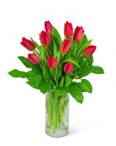 Red Tulips Flower Arrangement