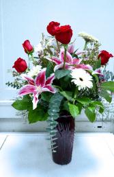 red vase garden valentine