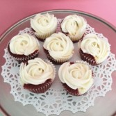 Red Velvet Cheesecake Cupcakes Sweet Blossoms