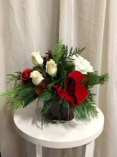 Red Velvet  Christmas Vase