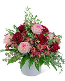 Red Velvet Crush Flower Arrangement