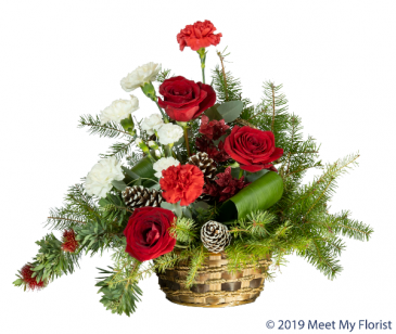 Red Velvet Floral Arrangement