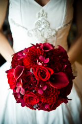 Red Velvet Princess Bridal Bouquet