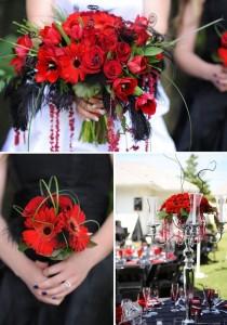 Red Wedding Wedding Bouquet/Bridesmaids/Centerpeice